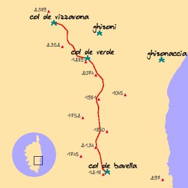 carte gr20 sud